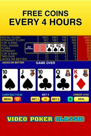 Video Poker Classic - 39 Games screenshot 4