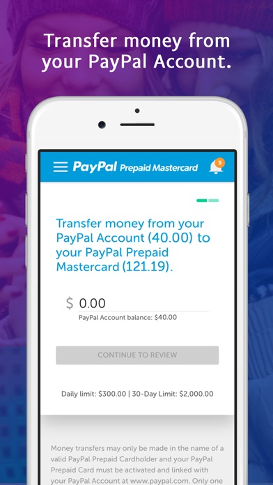 paypal prepaid app android apk