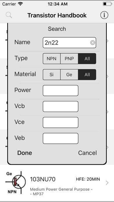 Transistors Handbook Screenshots