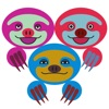 COLORFUL SLOTH FRIENDS