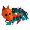 折紙狐貍 - 真正的紙制作的表情