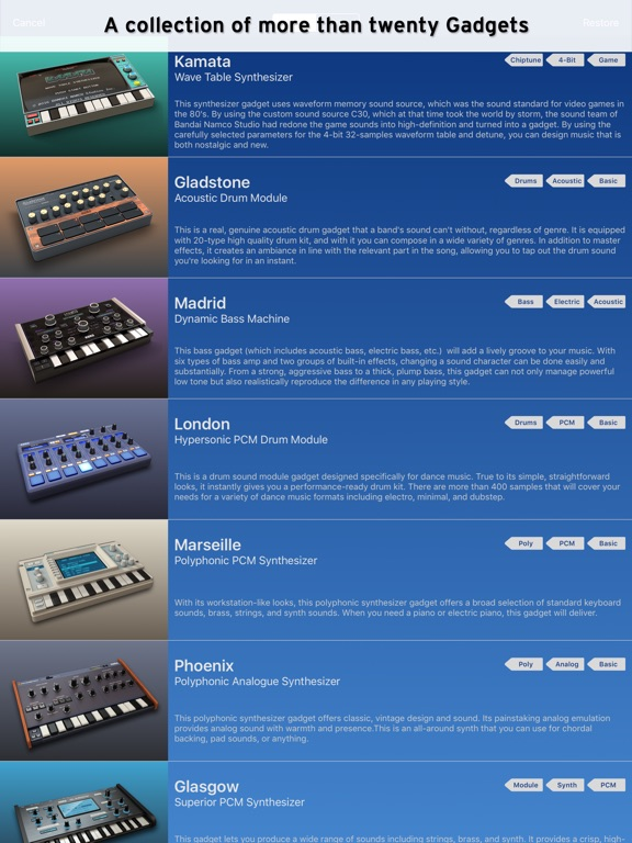 KORG Gadget Screenshots