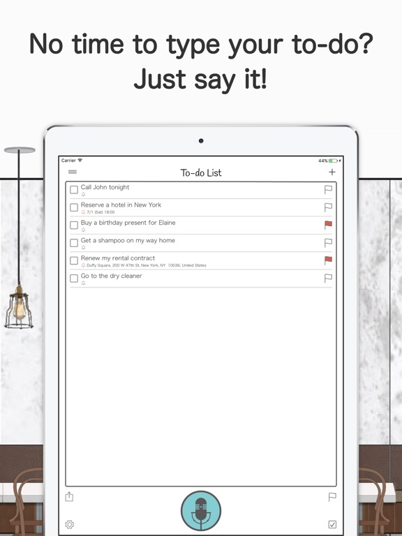 Voice To-do Screenshots