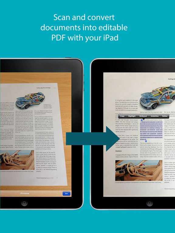 IRIScan to PDF Screenshots