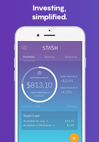 Stash: Invest, Learn, & Save screenshot 1
