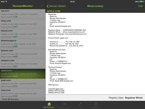 iDomain Monitor for iPad screenshot 3