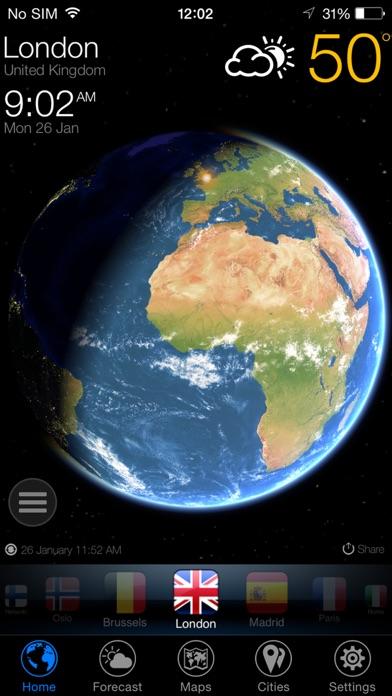 3D Earth - weather widget Screenshot
