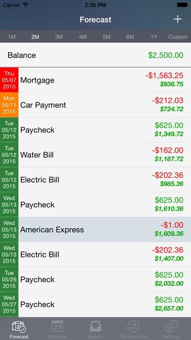 CashFlowCast: Expense Tracker Screenshots