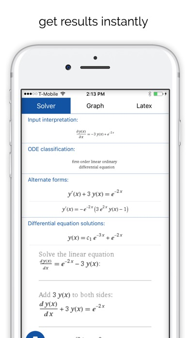 Mathpix - Solve and graph math Screenshot