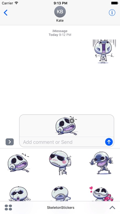 Skeletons Stickers review screenshots