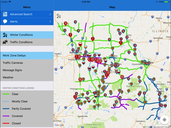 US Weather Interstate Driving Conditions And Traffic Reports Best - Us interstate road conditions map