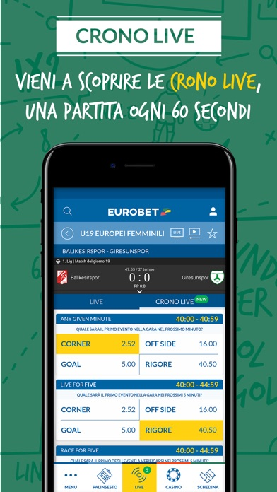 Screenshot of Eurobet Scommesse Sportive5