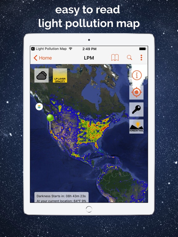 Light Pollution Map Eastern US Light Maps Northern Virginia - Us pollution map