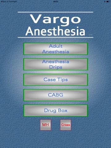 Vargo Anesthesia Mega App screenshot 1
