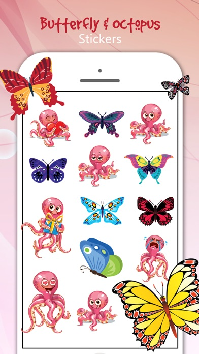 download Butterfly & Octopus Stickers apps 3