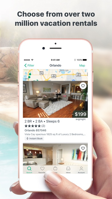 Screenshots of VRBO Vacation Rentals for iPhone