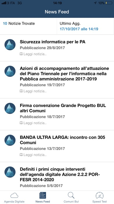 Screenshot of Agenda Digitale3