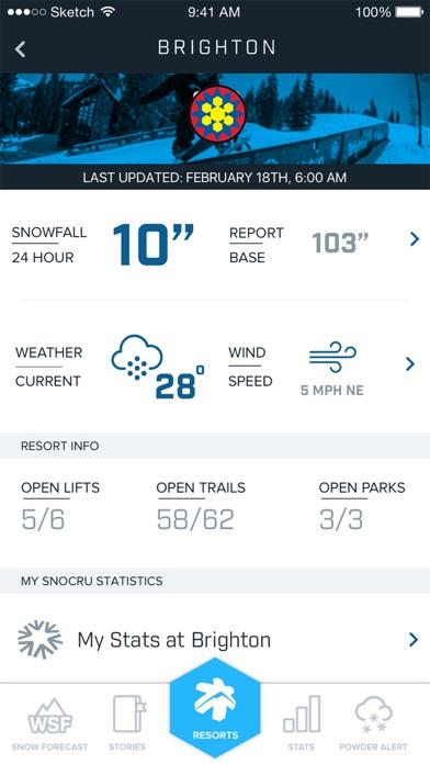 Ski Utah Snow Report Скриншоты4
