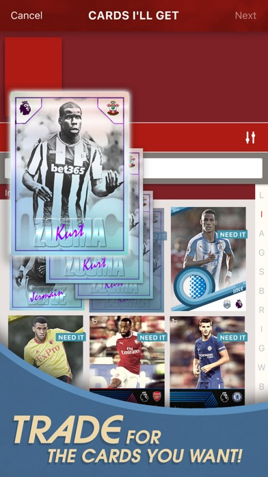 Screenshot of KICK: Card Trader di calcio3