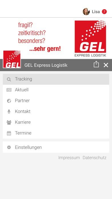 Screenshot von GEL Express Logistik2