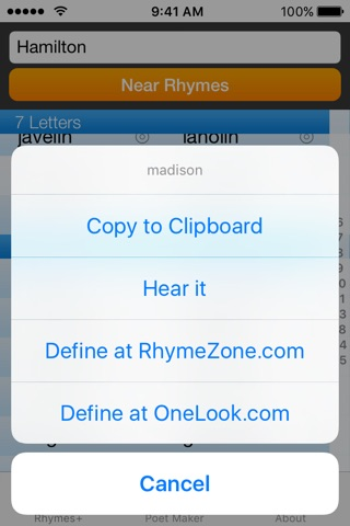 RhymeZone screenshot 3