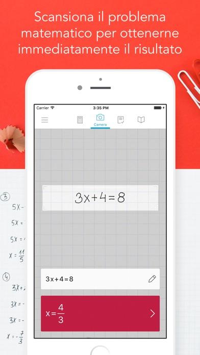 Photomath - Calcolatrice-Fotocamera Screenshot
