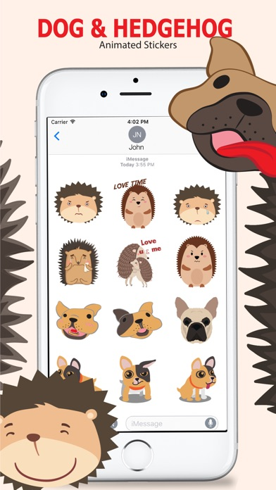 Animated Dog & Hedgehog screenshot 1