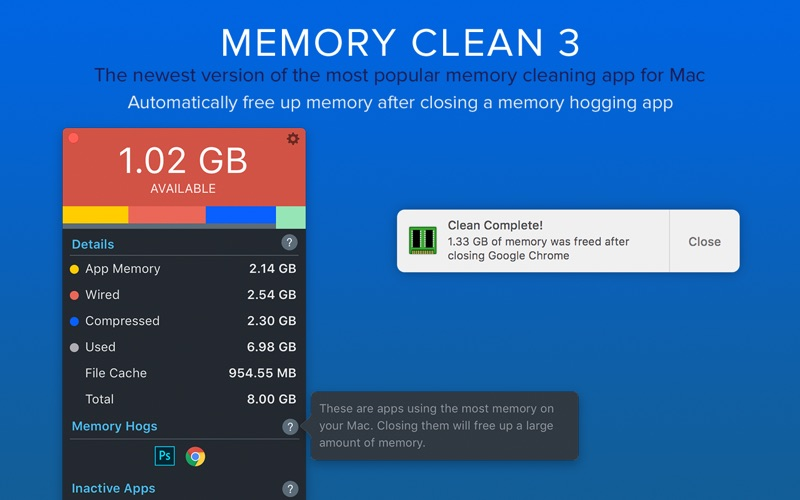 Memory Clean 3 Screenshot - 2