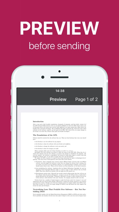 Screenshot for FAX app PRO: send fax from iPhone on the go in United States App Store
