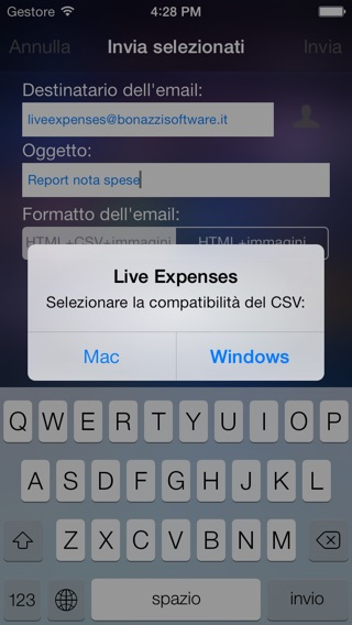 Live Expenses Screenshot