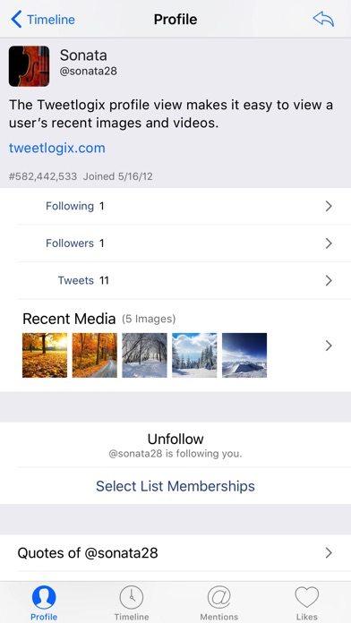 Tweetlogix for Twitter screenshot1