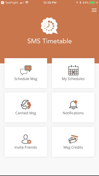 Screenshot of Bzzt - SMS Scheduler1