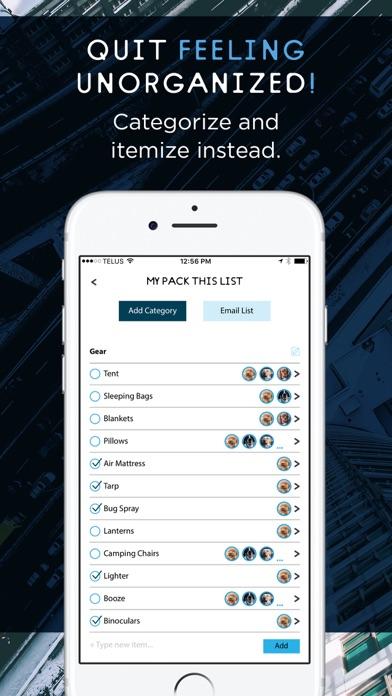 Упаковочный лист для путешеств Скриншоты4