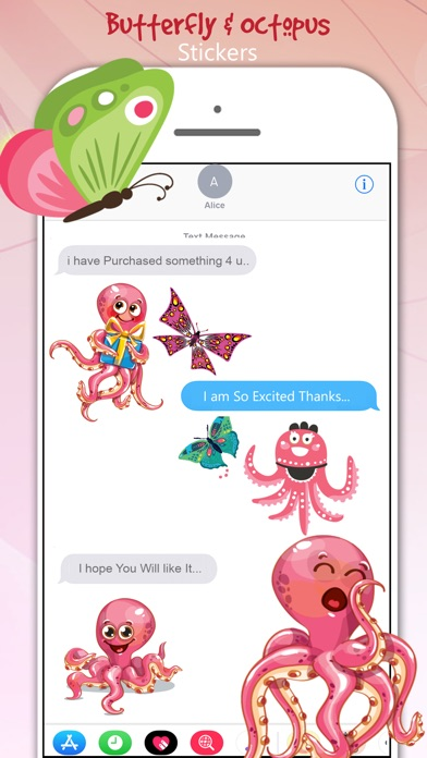 download Butterfly & Octopus Stickers apps 1