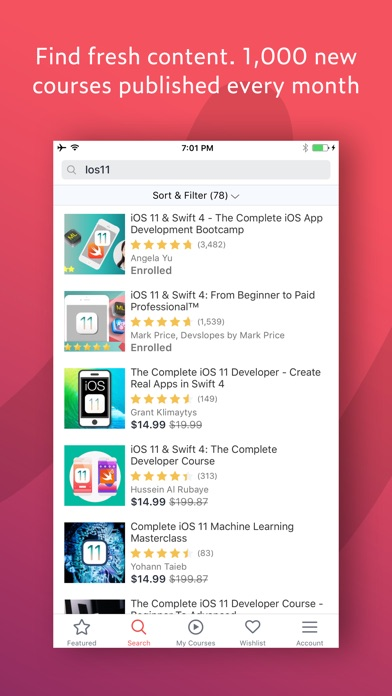 Screenshot 3 for Udemy's iPhone app'