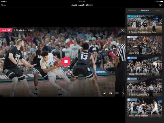NCAA March Madness Live Screenshots