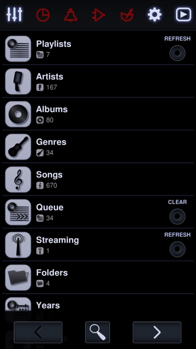 Neutron Music Player Screenshots