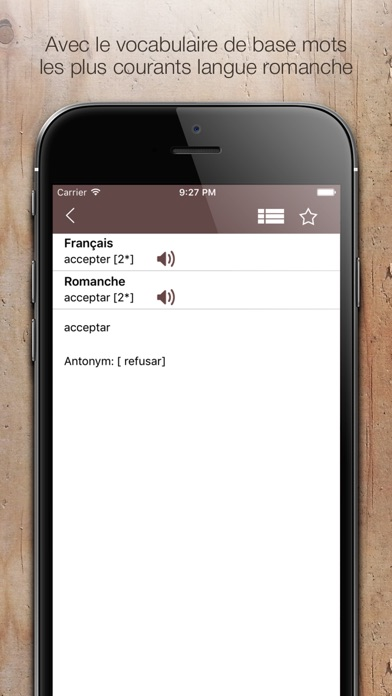 Screenshot for Dictionnaire Romanche Francais in Israel App Store