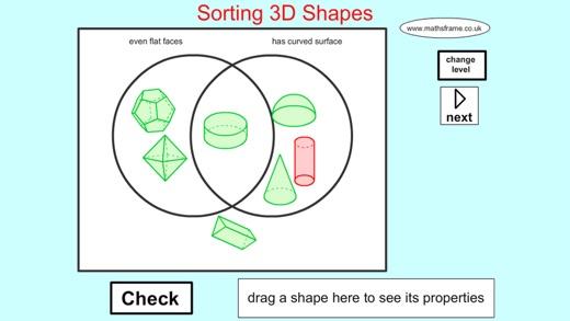 Venn Diagram Shape Sorting: Sorting 3D Shapes Venn Diagram on the App Store,Chart