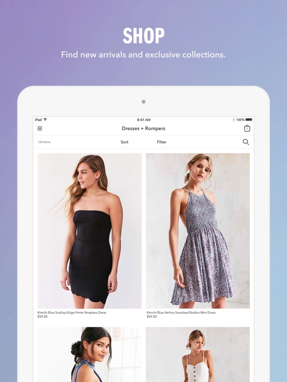 Screenshots of Urban Outfitters for iPad