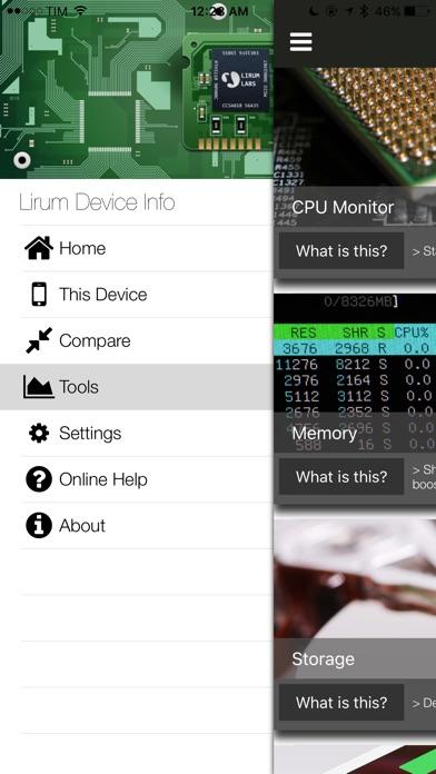 Lirum Device Info Screenshots