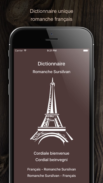 Screenshot for Dictionnaire Romanche Francais in United States App Store