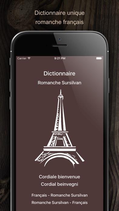 Screenshot for Dictionnaire Romanche Francais in Denmark App Store