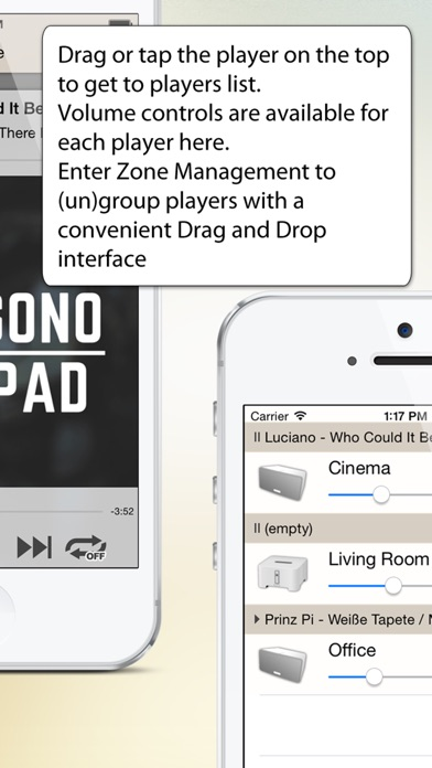 SonoPhone for Sonos Screenshots