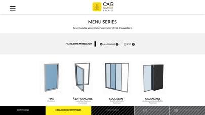 CAIB, Configurateur PROCapture d'écran de 2