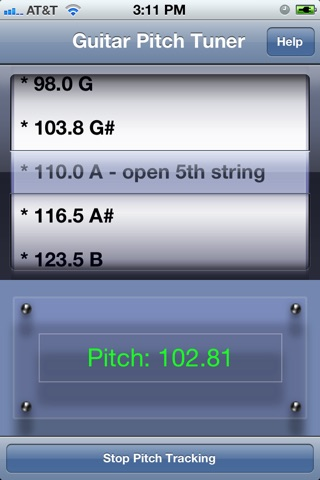 Guitar Pitch Tuner screenshot 1