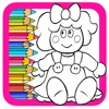 Coloring Book Games Little Doll Page