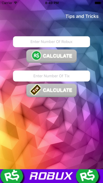 Robux and Tix Calculator for Roblox by parth dabhi