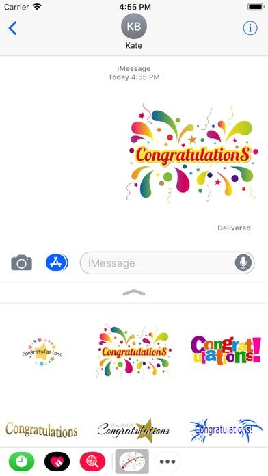 Congratulations Stickers 2018Скриншоты 2