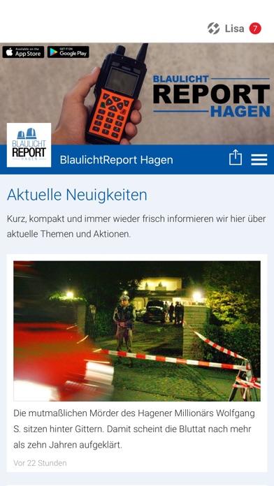 Screenshot von BlaulichtReport Hagen1